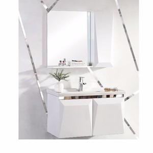 中博衛浴8501 掛墻式現代實木浴室柜 衛生間洗手盆柜