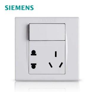 西门子开关插座面板品宜雅白一开五孔插座独立开关电源