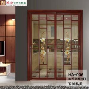鴻業藝術背景墻  80系列  推拉門HA-006、HA-020定制 每平方