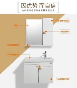 箭牌pvc浴室柜组合柜卫浴洗脸盆挂墙式洗手柜镜柜APG6G3206-G正品