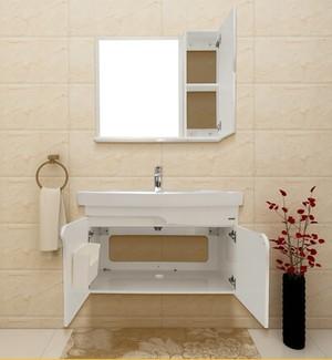 箭牌小户型浴室柜组合pvc防潮浴室洗手洗脸盆柜套装APG8G3218-G