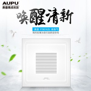 奥普  单换气扇  PT801K白色   规格:300*300mm   现代风格