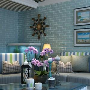 简约现代砖块无纺布墙纸中式仿真砖头客厅书房电视背景壁纸