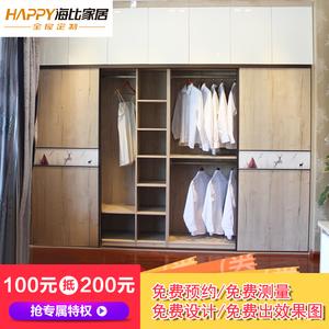 【海比家居全屋定制】卧室家具定制衣柜  现代简约·C1衣柜定制预付金